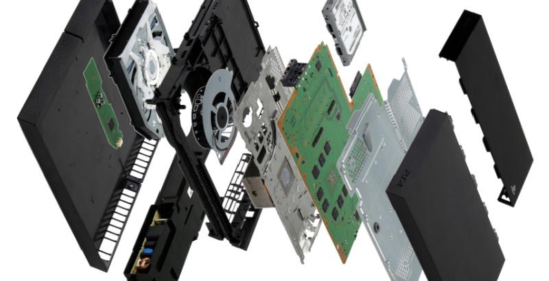 Les entrailles de la PlayStation 4.