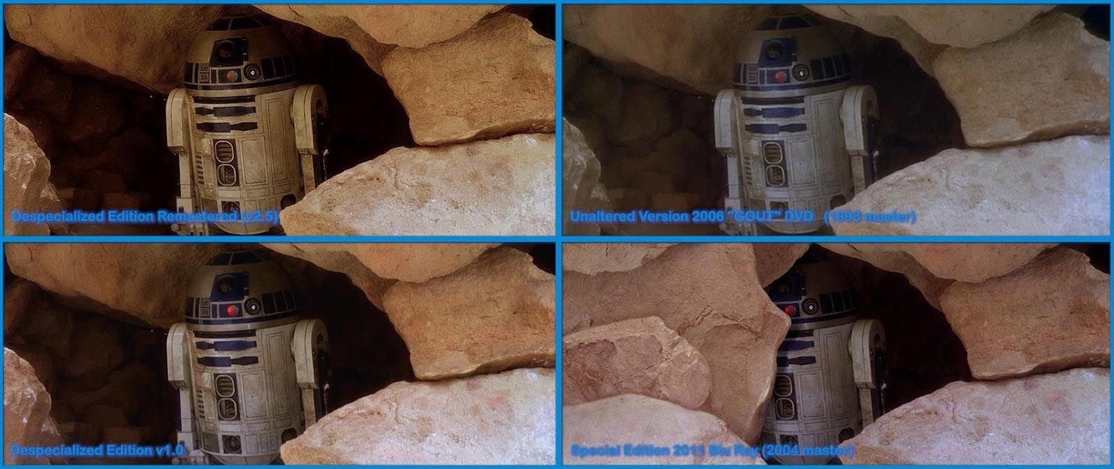 Un exemple des différences entre les versions de Star Wars.