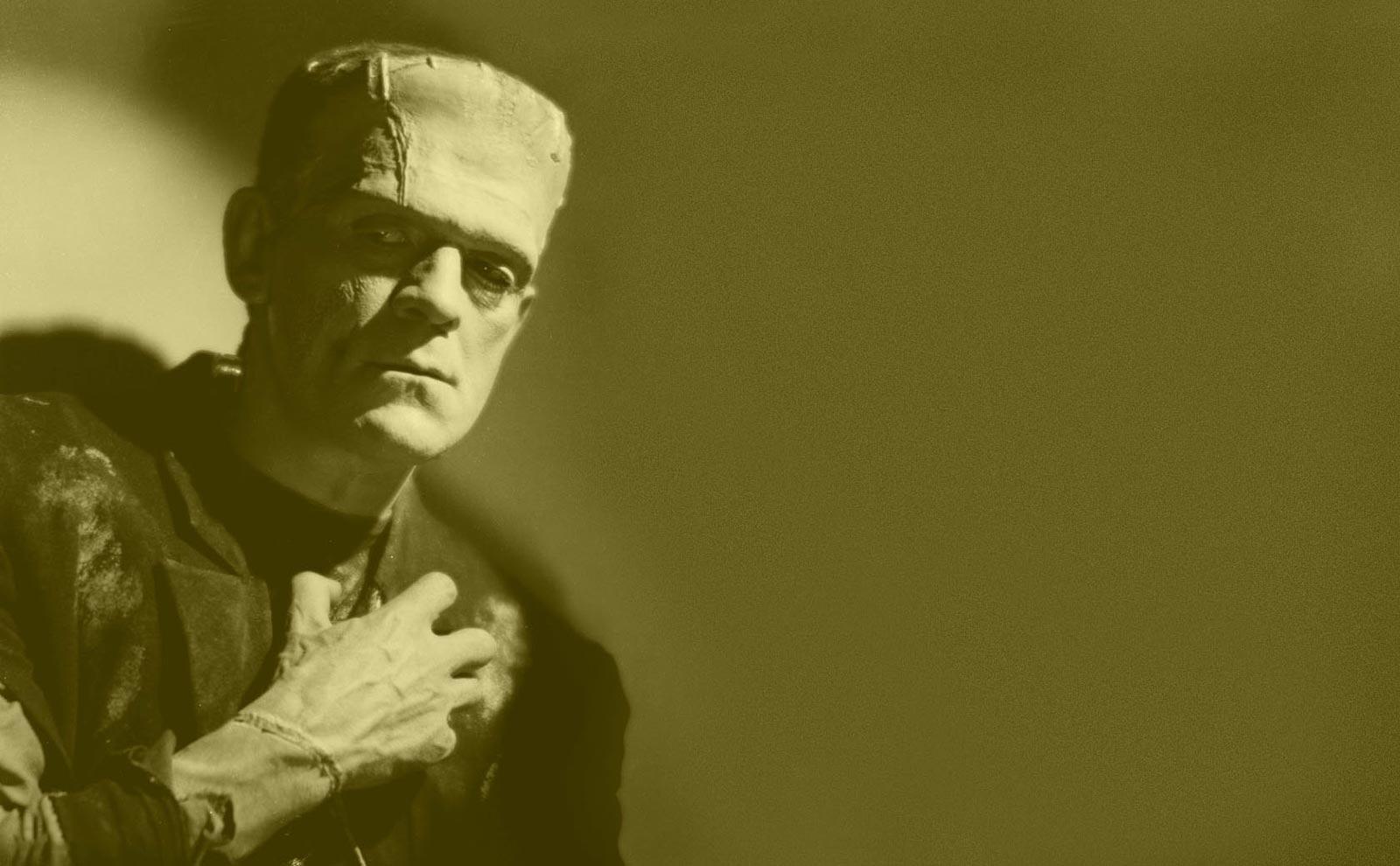 Boris Karlof dans le rôle du monstre de Frankenstein
