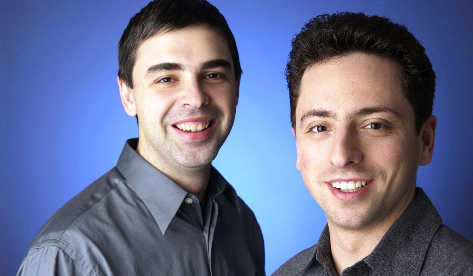 Larry Page et Sergey Brin, fondateurs de Google, en 2004