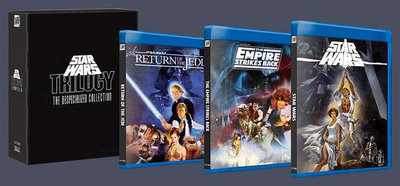 Non, l'édition déspécialisée de Star Wars n'est pas vendue en coffret Blu-ray.