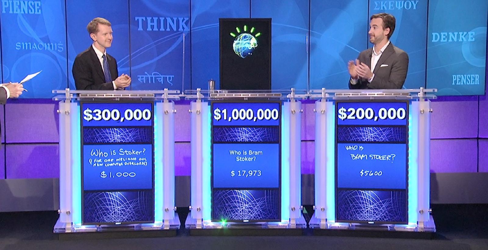 Watson et sa réponse finale lors de sa participation à Jeopardy