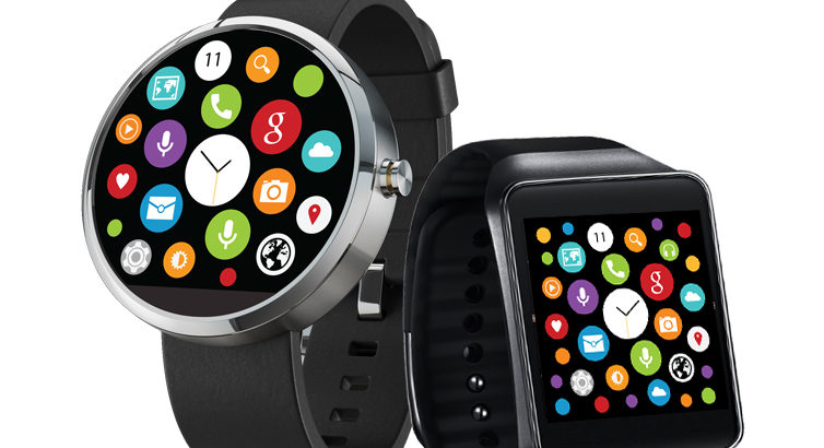 L'interface de l'Apple Watch sur Android Wear