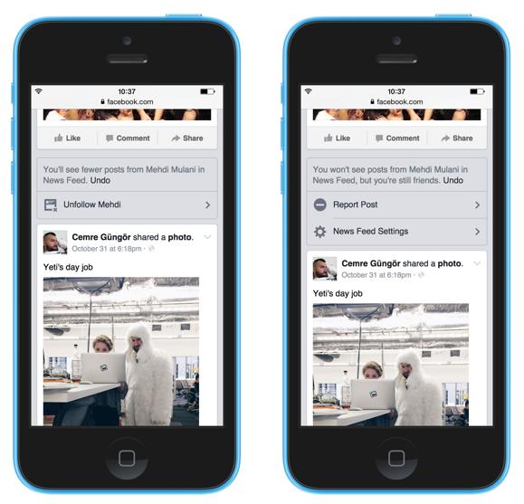 Un aperçu des nouvelles fonctionnalités du fil d'actualité sur l'application mobile.