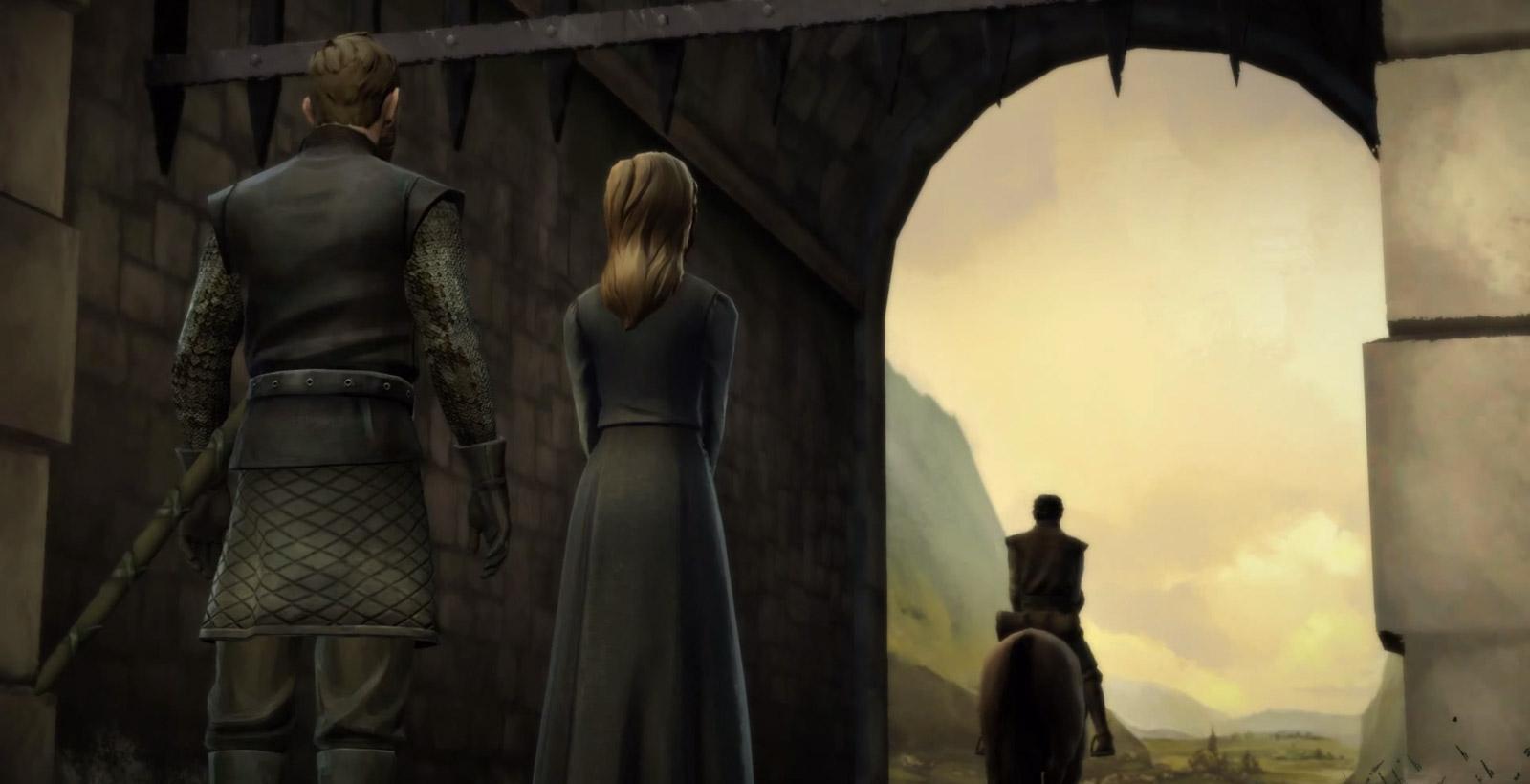 Le premier épisode de la série Game of Thrones: Iron from Ice (Image: Telltale Games).