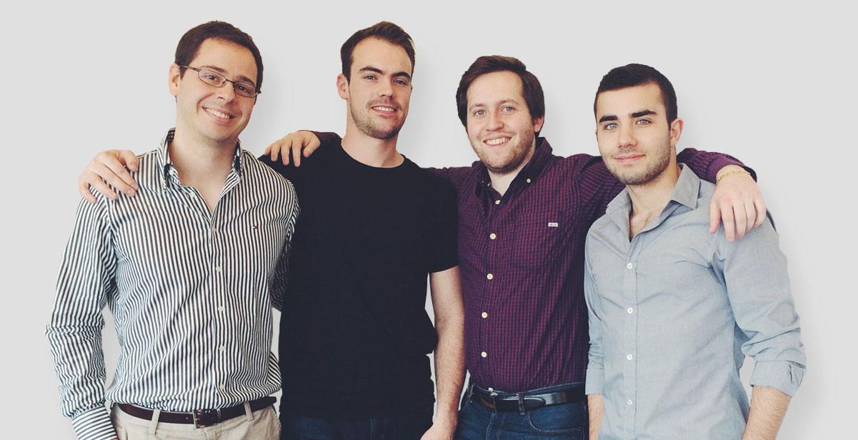 Les cofondateurs de Spoil: Cristian Asenjo, Charles-Éric Gascon, Mikhail Levkovsky et James Traf.