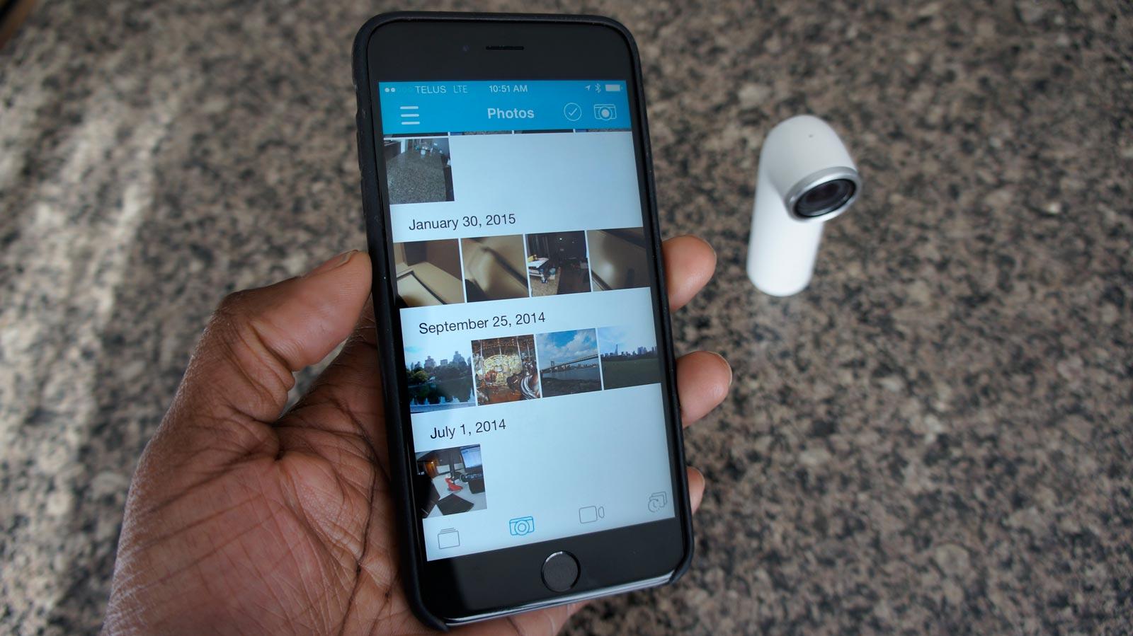 Un aperçu de l'application mobile.
