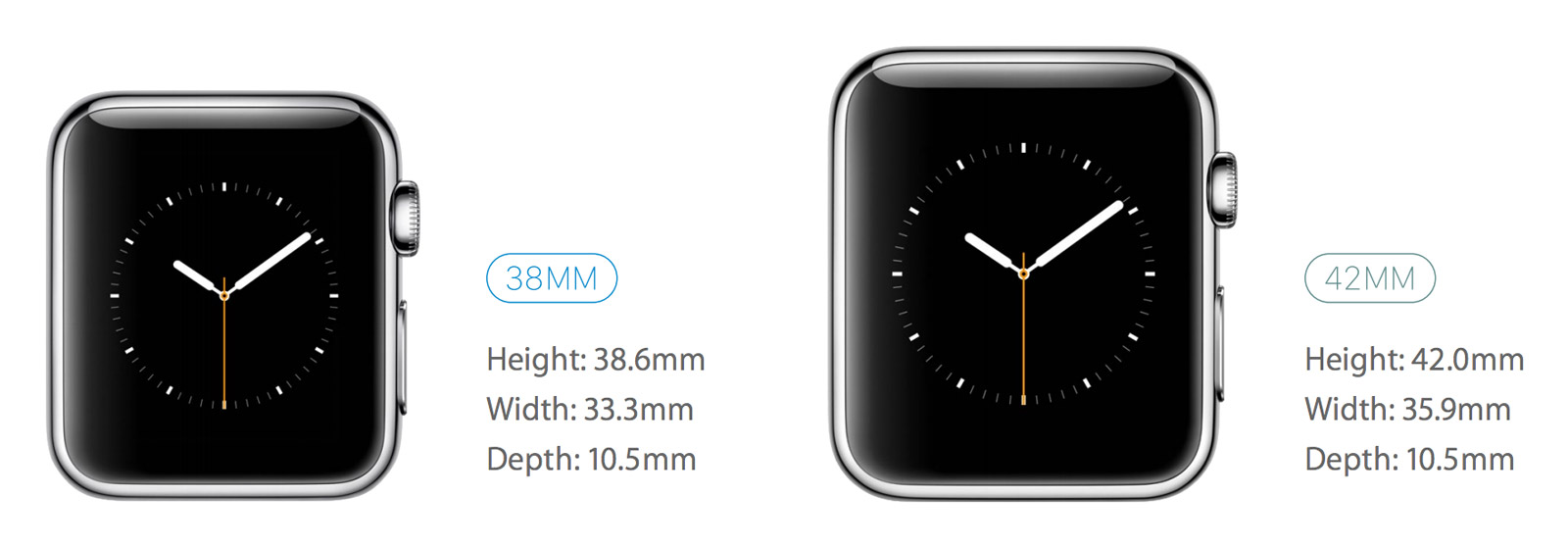 applewatchtailles