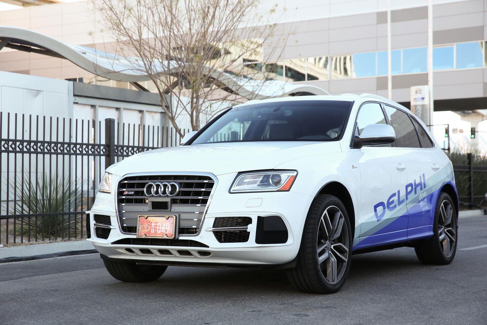 La SQ5 d'Audi, une voiture pourvue d'un pilote automatique (Photo: Delphi).