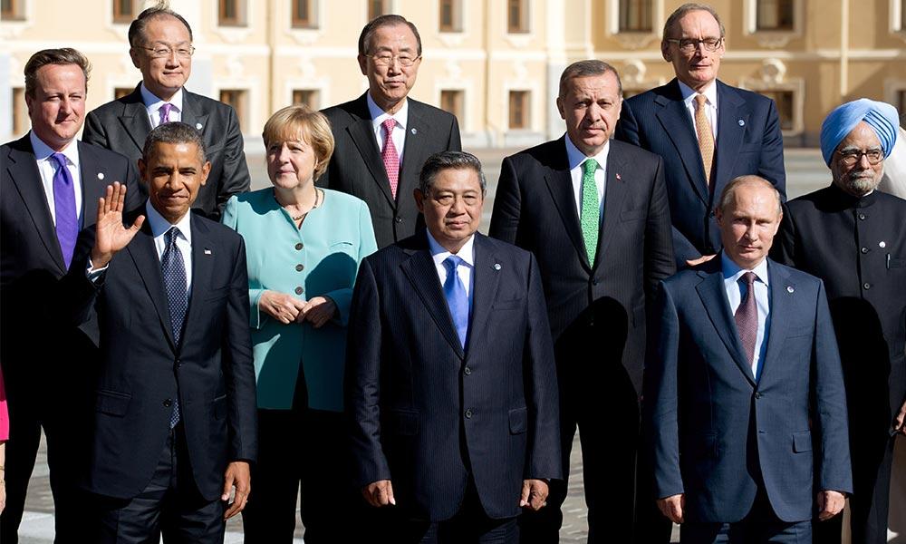 Une partie des leaders politiques lors du sommet du G-20 en novembre dernier.