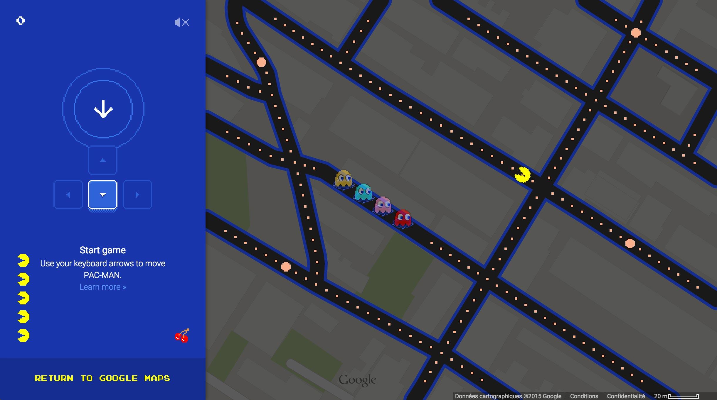 Un aperçu de Pac-Man au coin de la rue Saint-Denis et l'avenue Mont-Royal.
