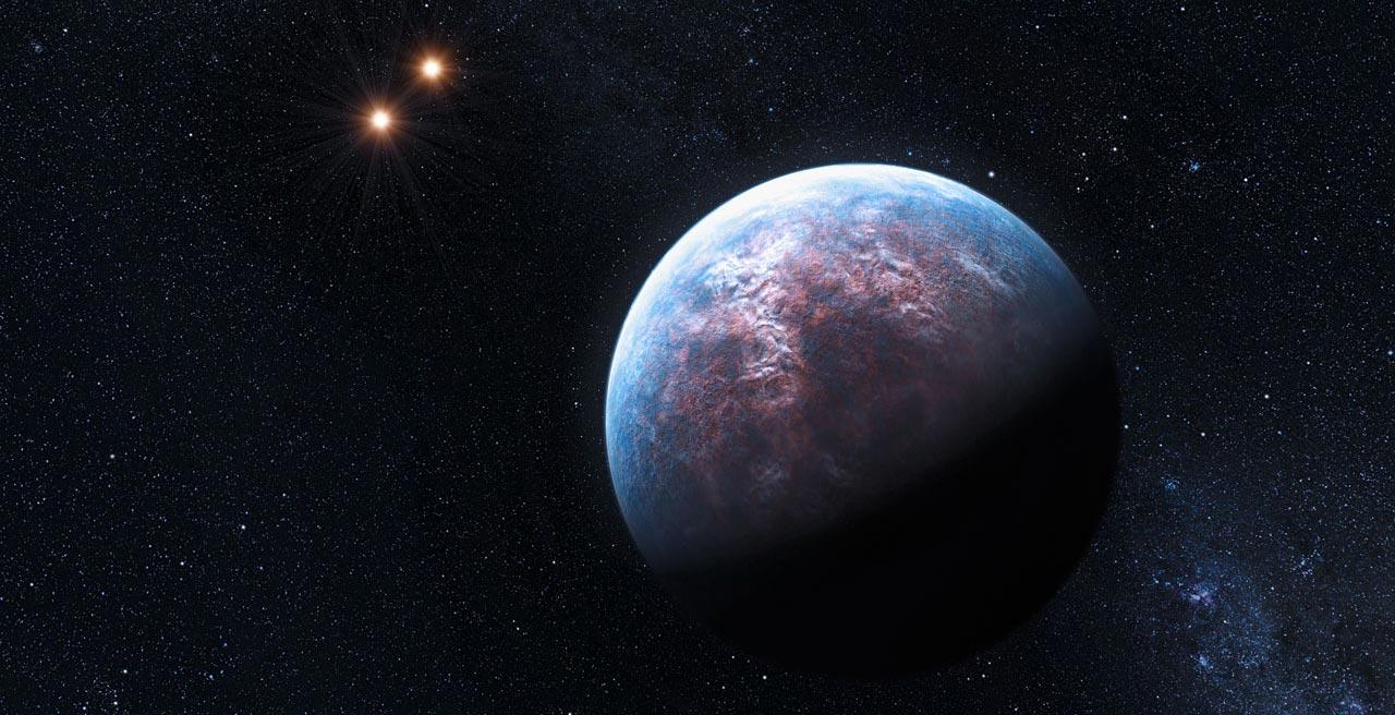 Gliese667Cc, une exoplanète semblable à la Terre située à 22 années-lumières, dans la constellation Scorpion (Image: Observatoire européen austral).