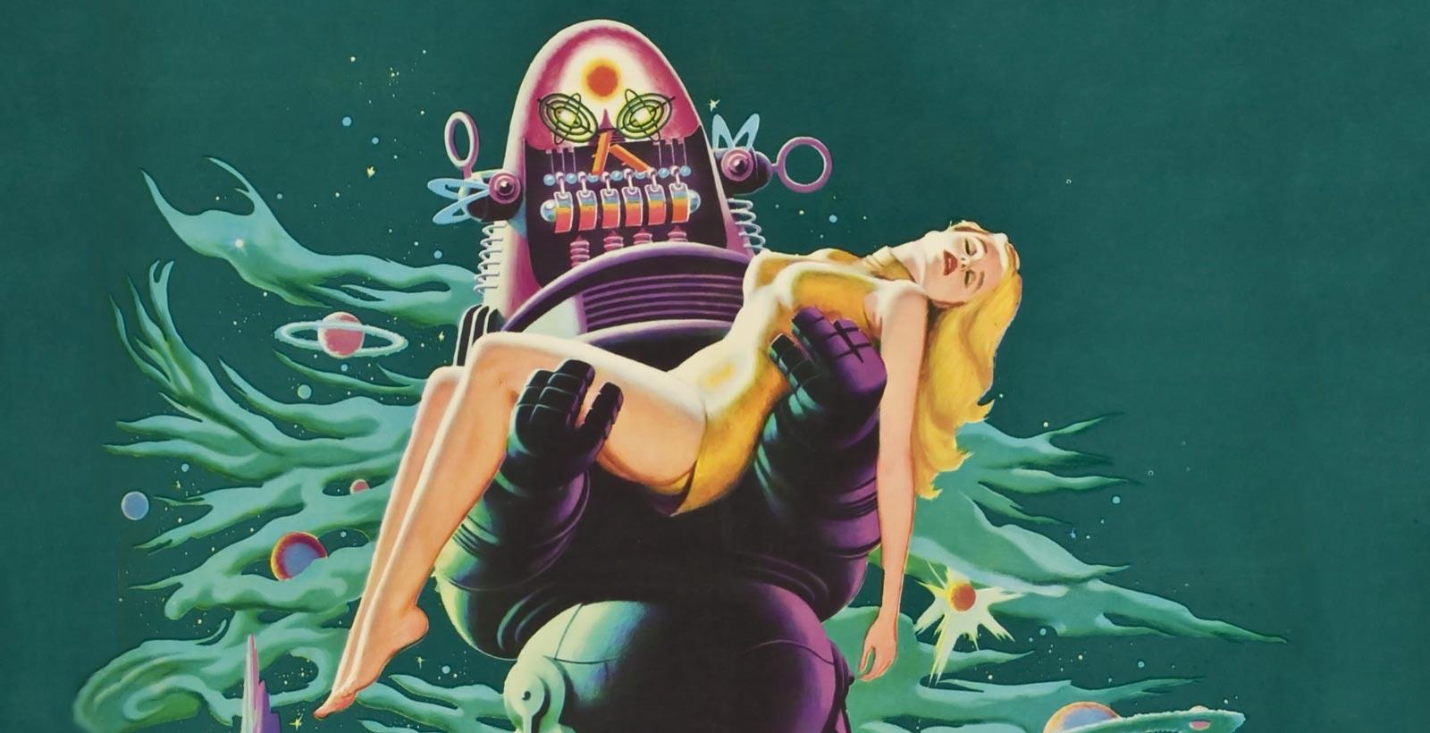 Tirée de l'affiche originale du film Forbidden Planet (Image : MGM).