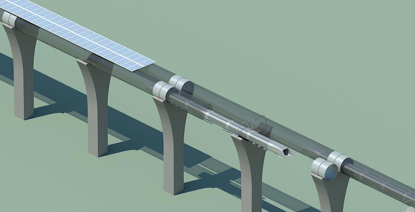 La découpe des tubes munis de panneaux solaire (Image : Tesla).