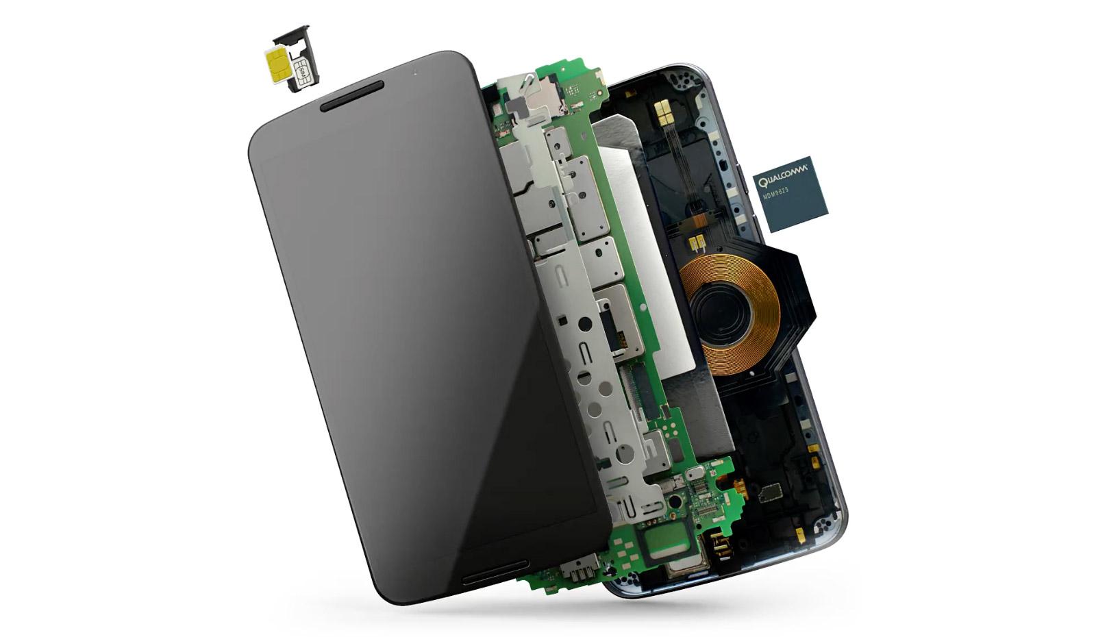 Les entrailles du Nexus6 (Image : Google).