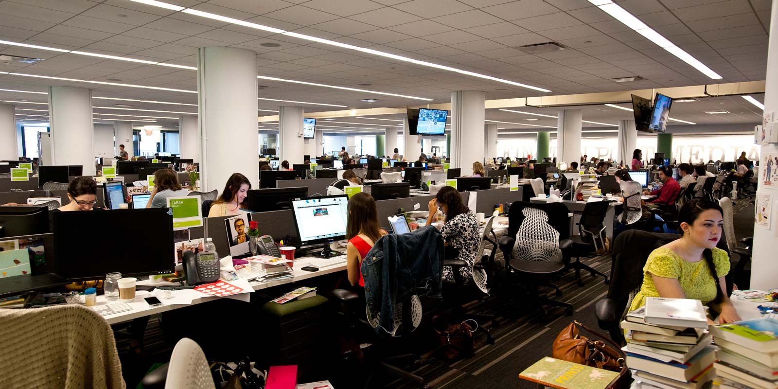 La salle de rédaction du Huffington Post à New York (Image : Huffington Post).
