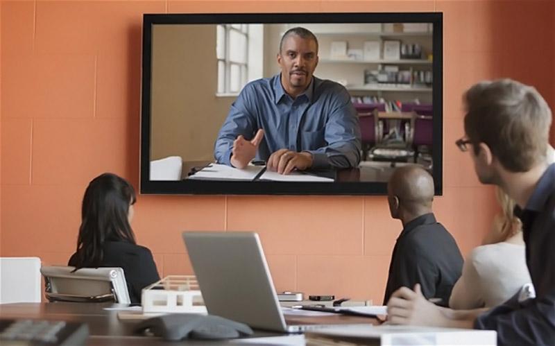 Une séance de vidéoconférence classique (Image : The Telegraph).