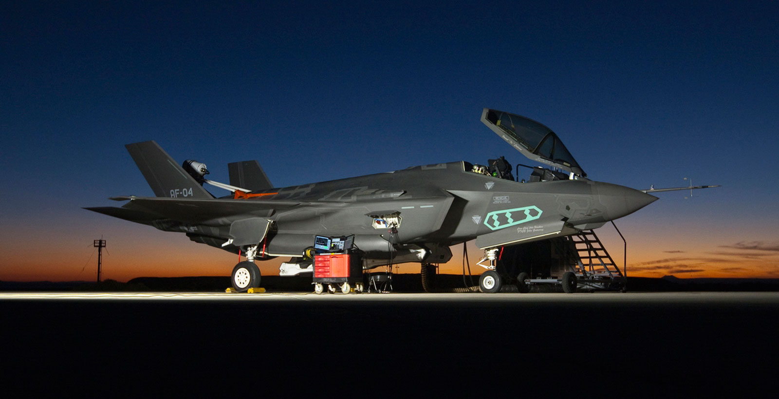 Un F-35A à la base Edwards Air Force en Californie (Photo : US Air Force).