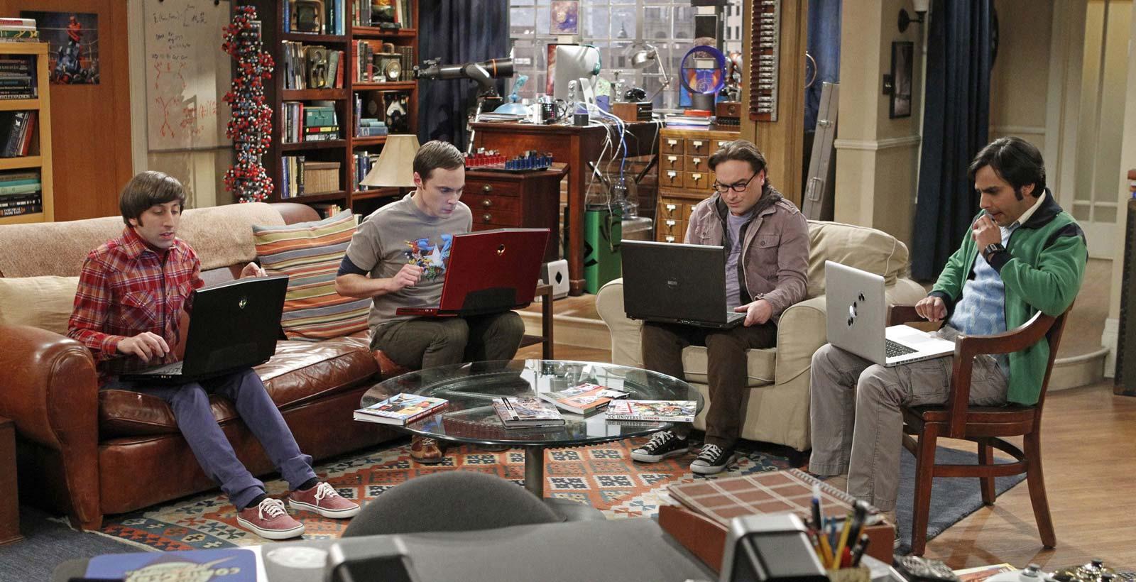 Sans Internet, Howard, Leonard, Sheldon et Raj n'auraient jamais joué à World of Warcraft (Image: Warner Brothers).