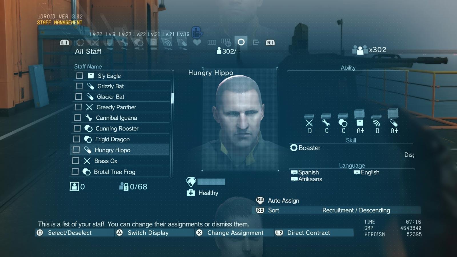 Même après avoir terminé le jeu, vous pouvez gérer vos effectifs dans Metal Gear SolidV: The Phantom Pain.
