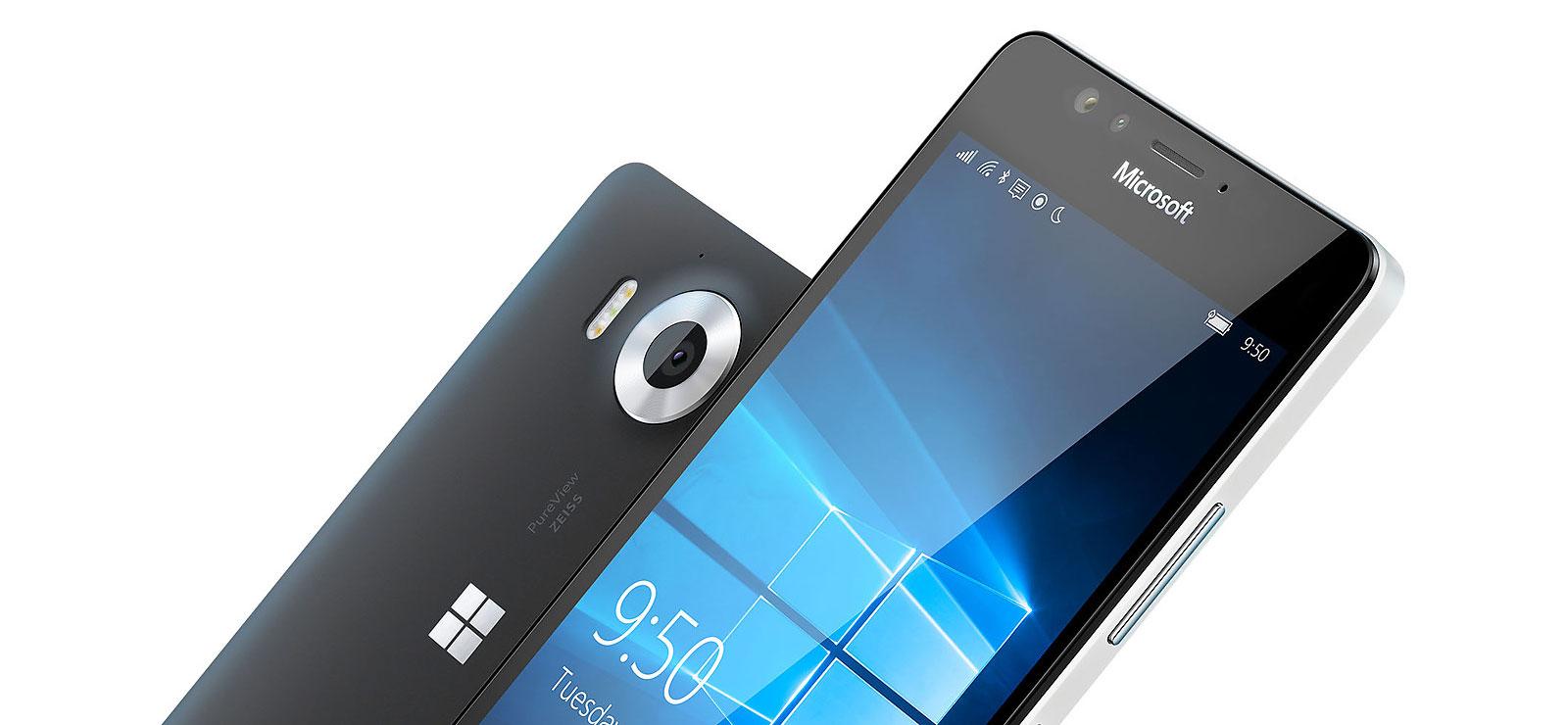 Un aperçu du Lumia950.