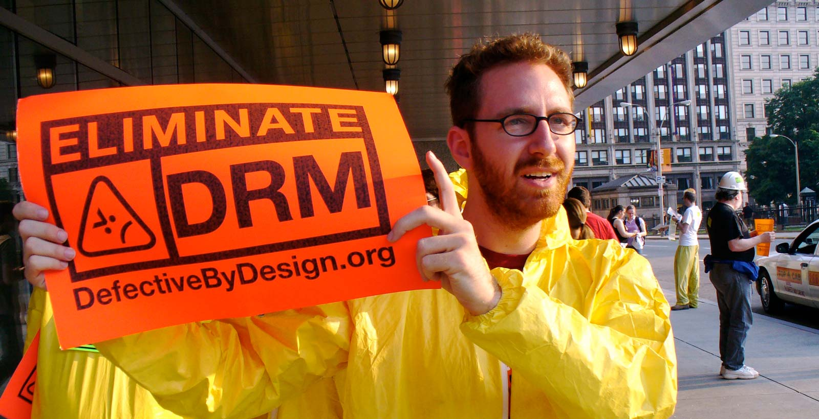 Photo prise lors d'une manifestation contre les DRM à Boston en 2007 (Photo : Wikimedia).