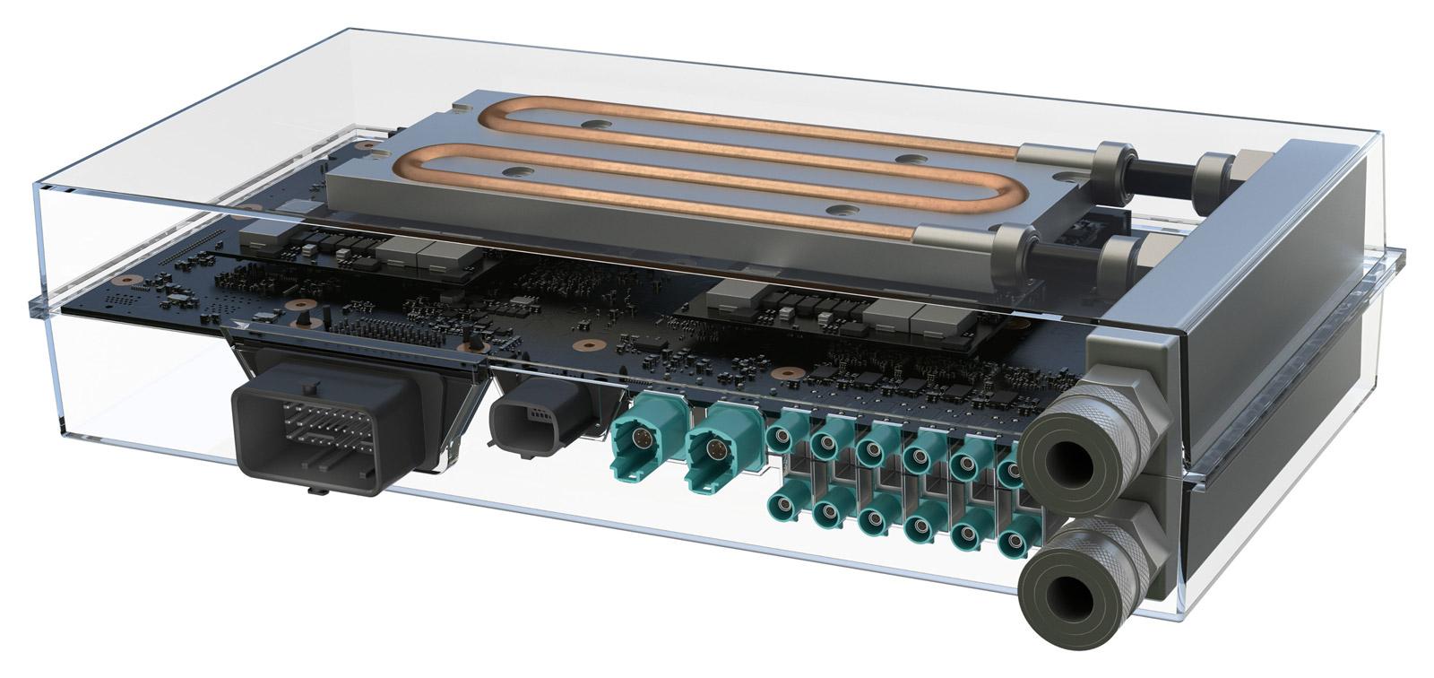 Le Drive PX 2 de nVidia.