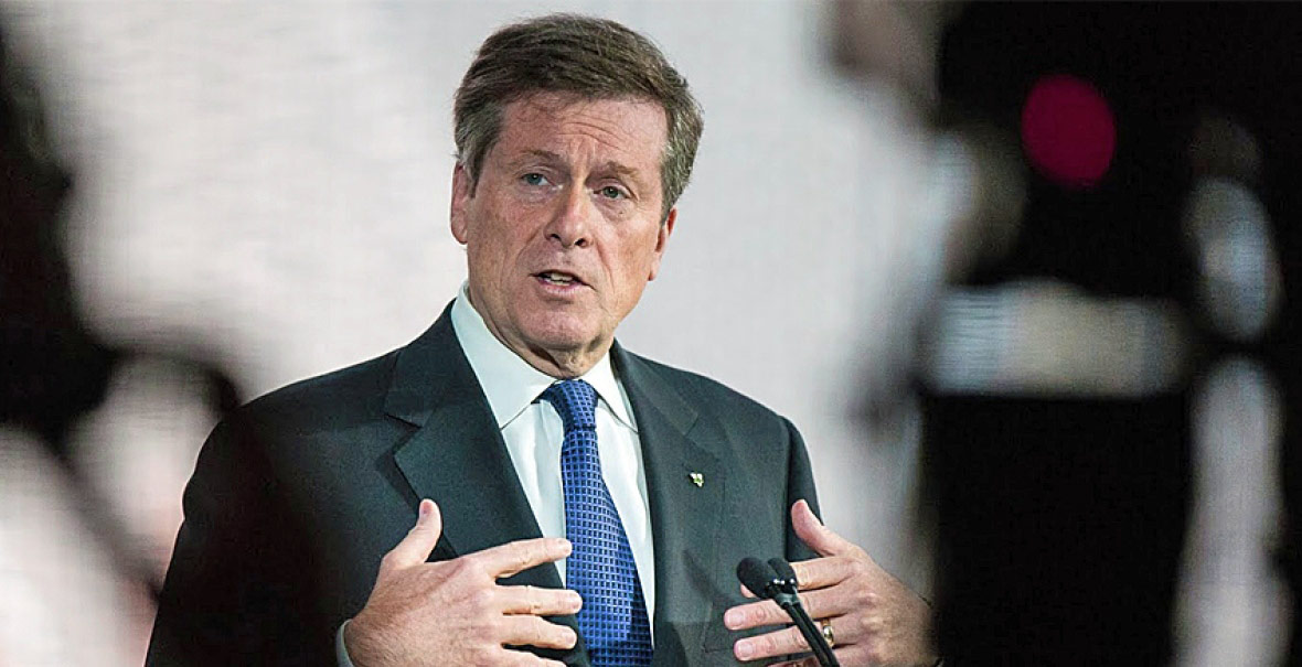 Le maire de Toronto, John Tory (Photo: CBC).