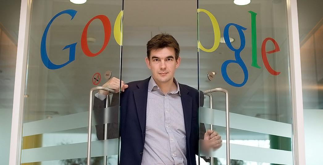 Martin Brittin, qui franchit les portes du quartier général de Google Europe.