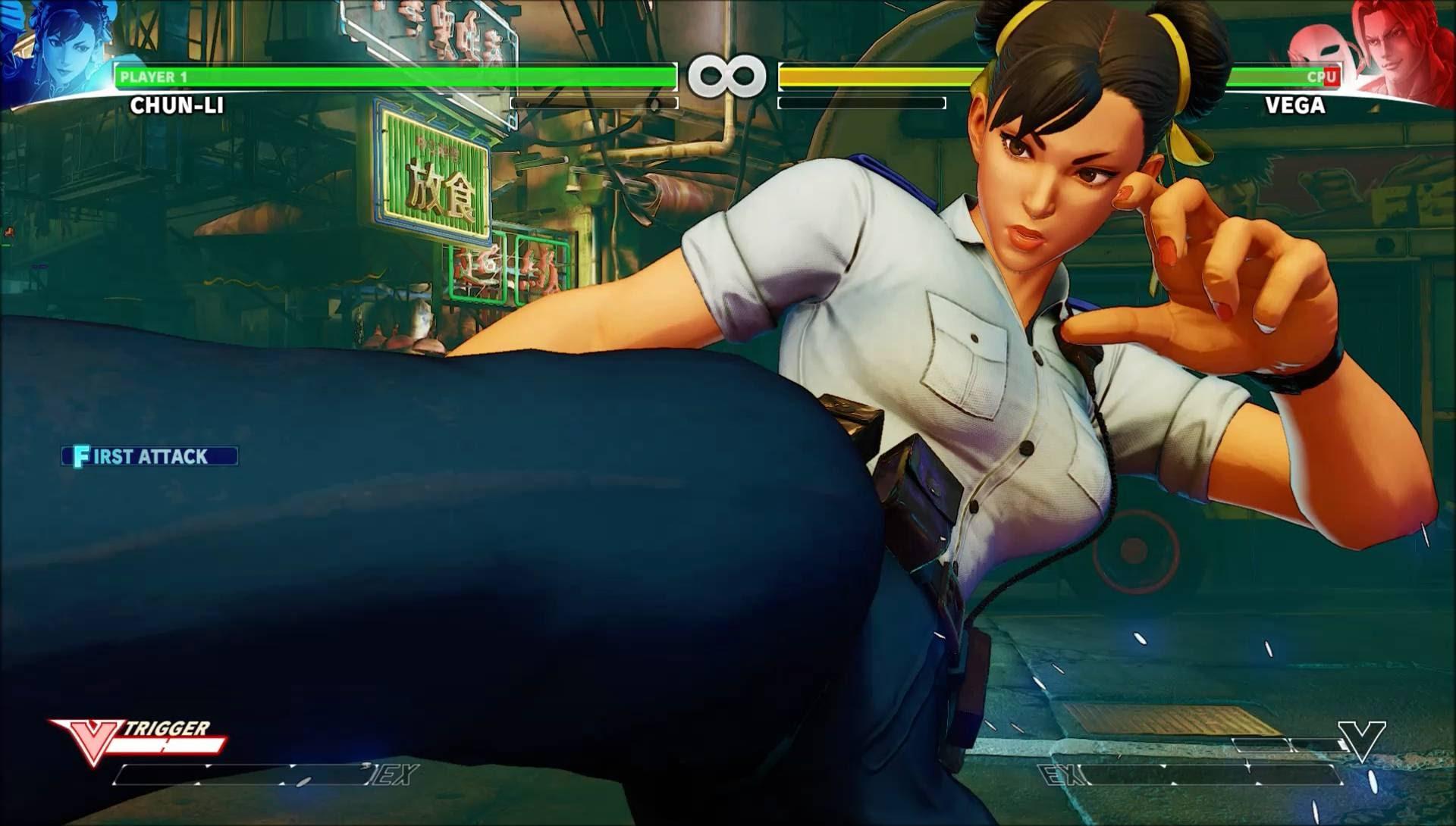 Le costume de Chun-Li tiré de son mode histoire.