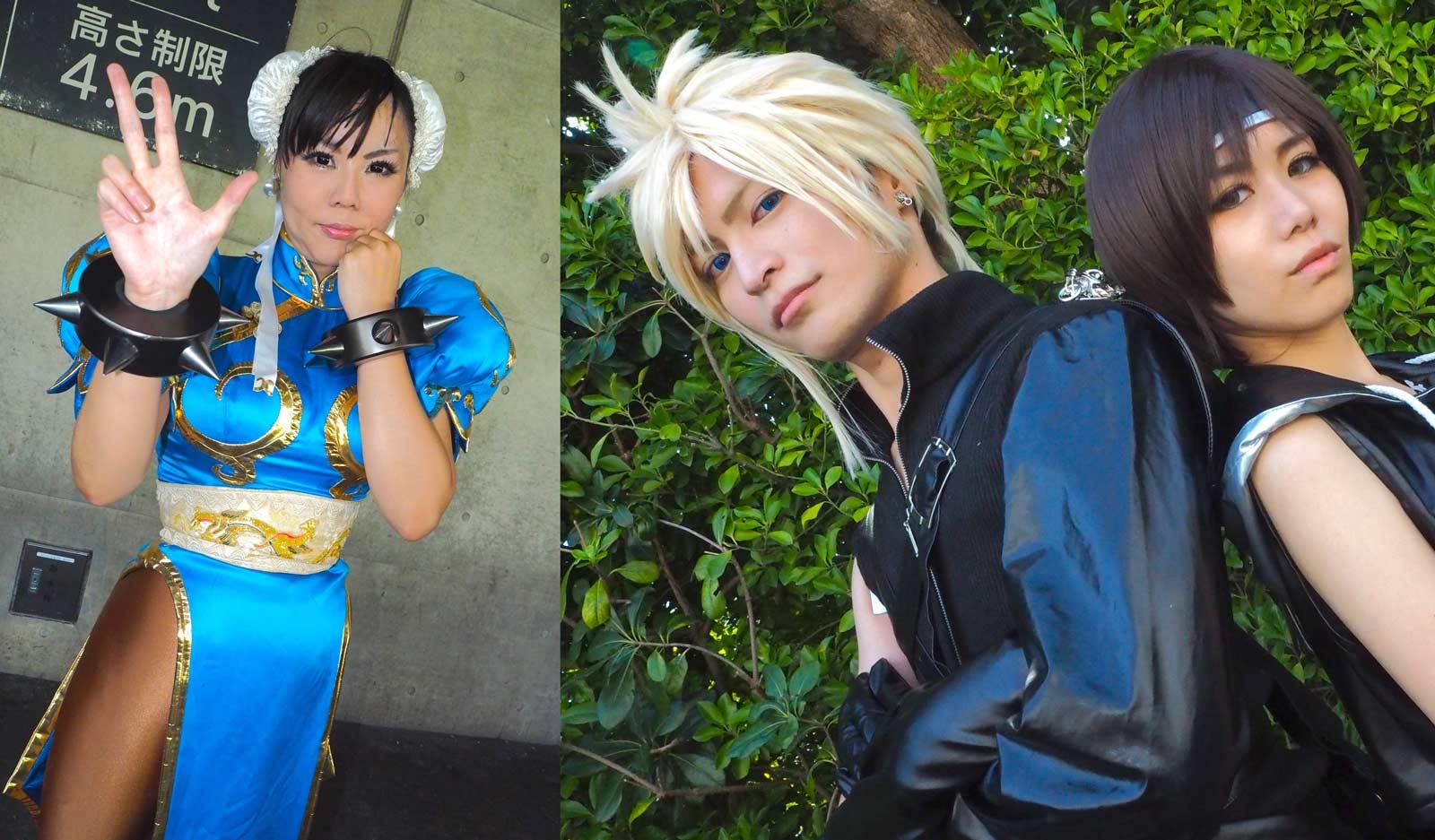 Le Tokyo Game Show attire des douzaines de cosplayers et leurs photographes chaque année.