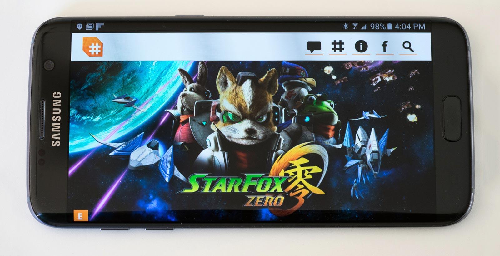 Un aperçu du GalaxyS7 Edge, dont les couleurs de l'écran sont identiques au GalaxyS7.