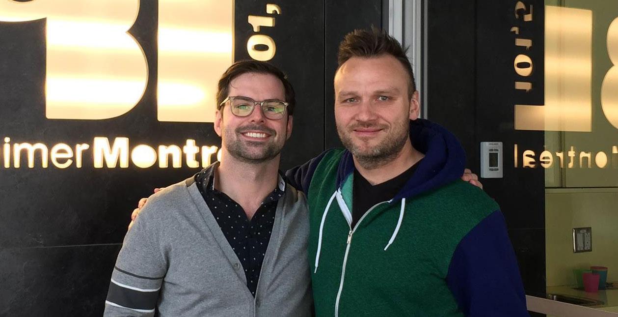 Jean Sébastien Lozeau et Sammy Najar (Photo : Commentts).