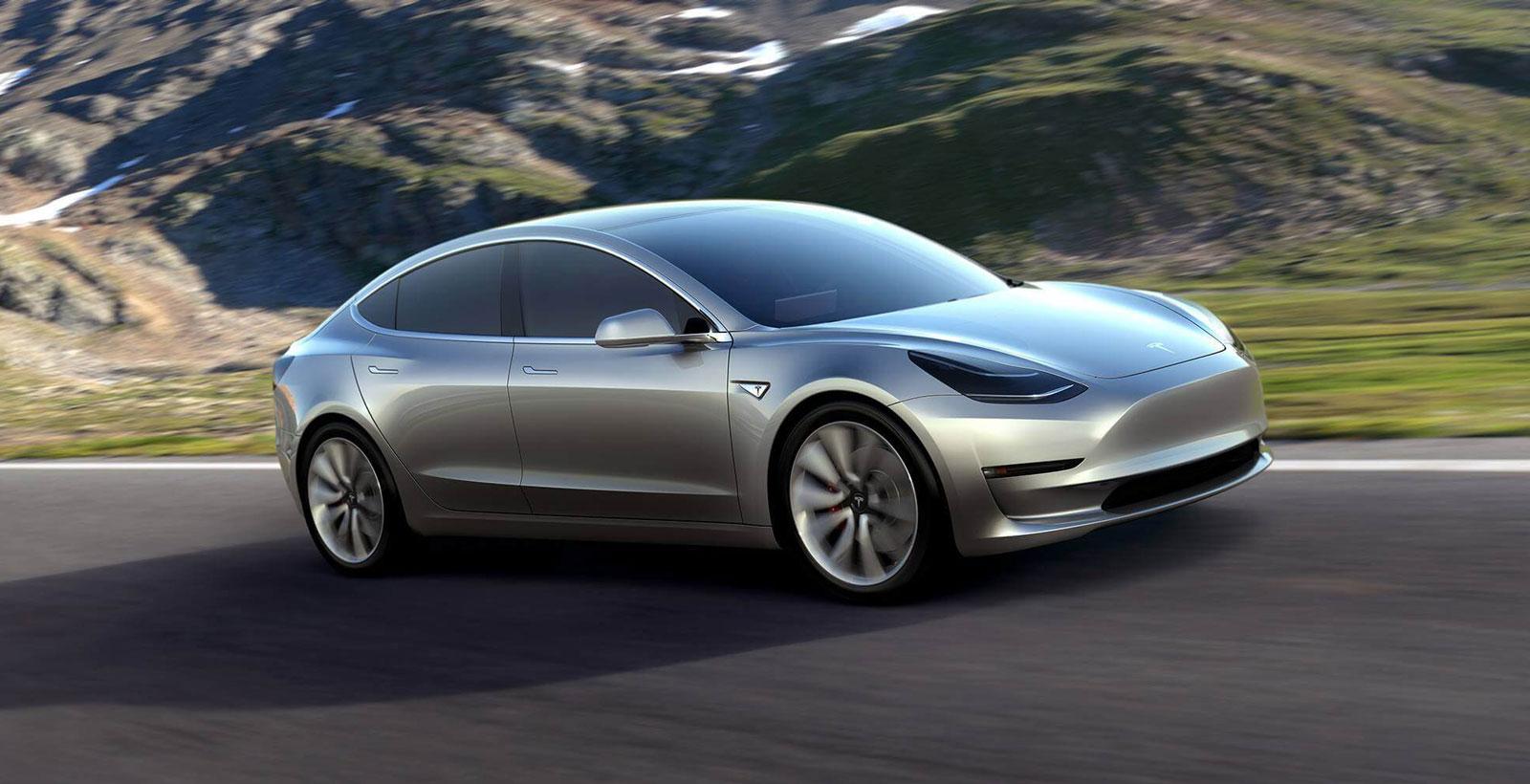 La Tesla Model3, qui devrait être commercialisée à la fin de 2017.