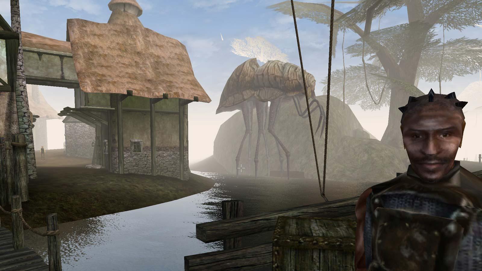 Une capture d'écran de Morrowind. Non, ce n'est pas pour rien que je souhaite une version remastérisée.