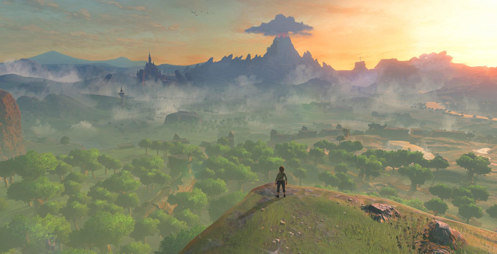 Nintendo n'a montré qu'une partie du territoire d'Hyrule, et c'est déjà impressionnant.