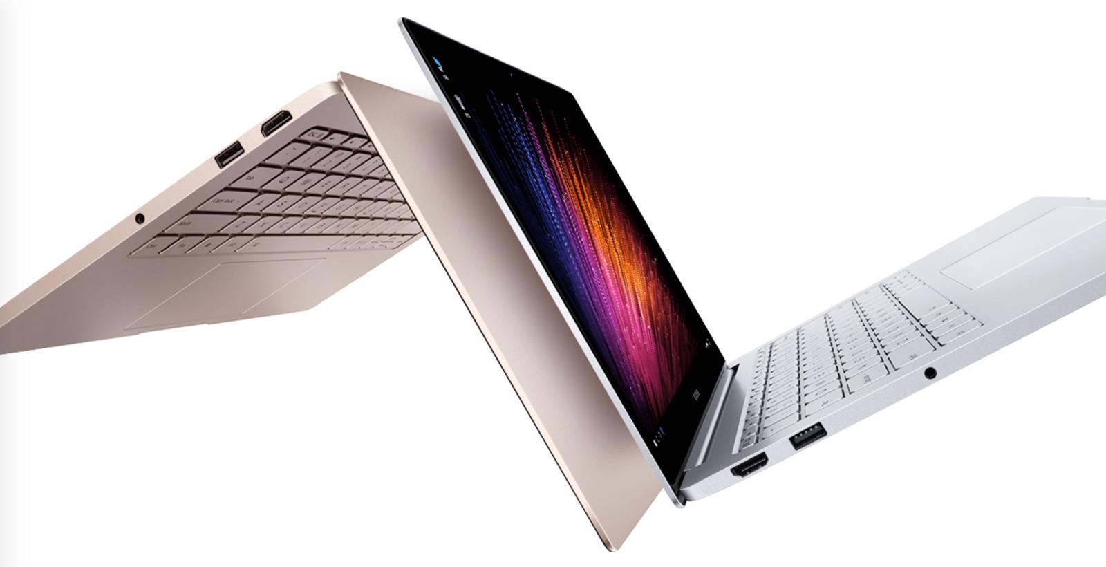 La gamme Mi Notebook Air est offerte avec une coque dorée ou argentée.