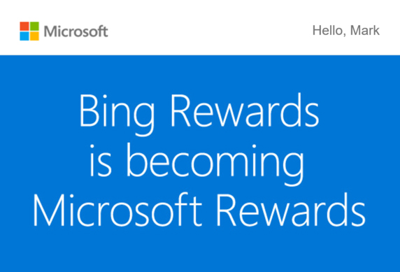 Les participants au programme Bing Rewards ont été informés par courriel (Image : PC World).