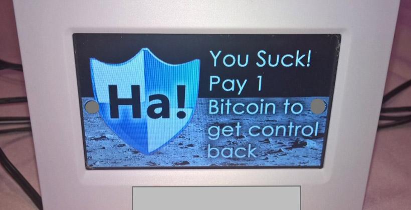 Le genre de message que vous ne voulez surtout pas voir (Photo : Ken Munro).