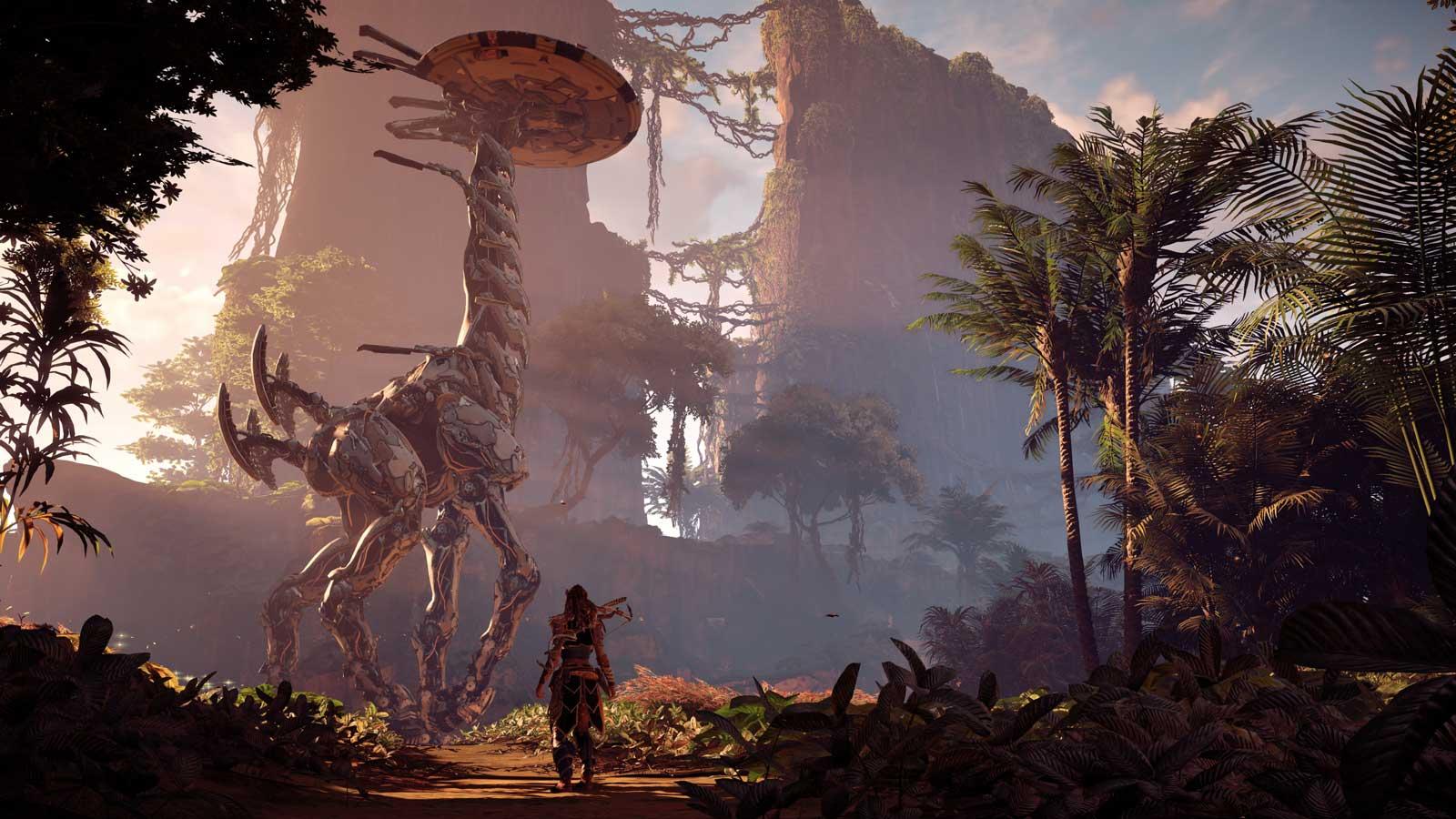 Un aperçu de Horizon: Zero Dawn sur PS4Pro (voir l'image 4K).