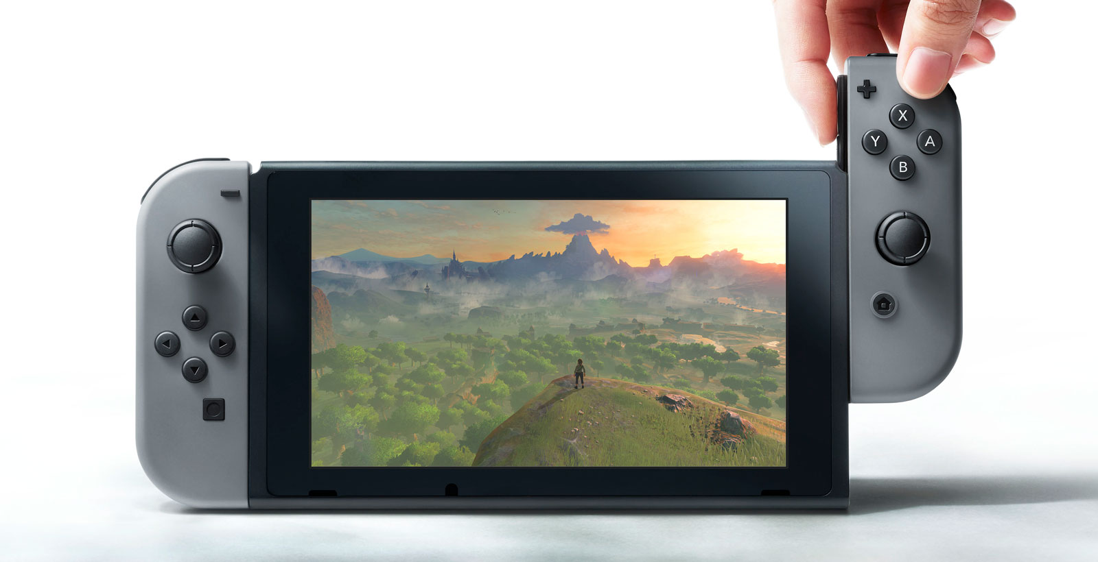 Les Joy-Con, de petites manettes pouvant s'attacher à l'unité mobile de la Nintendo Switch.