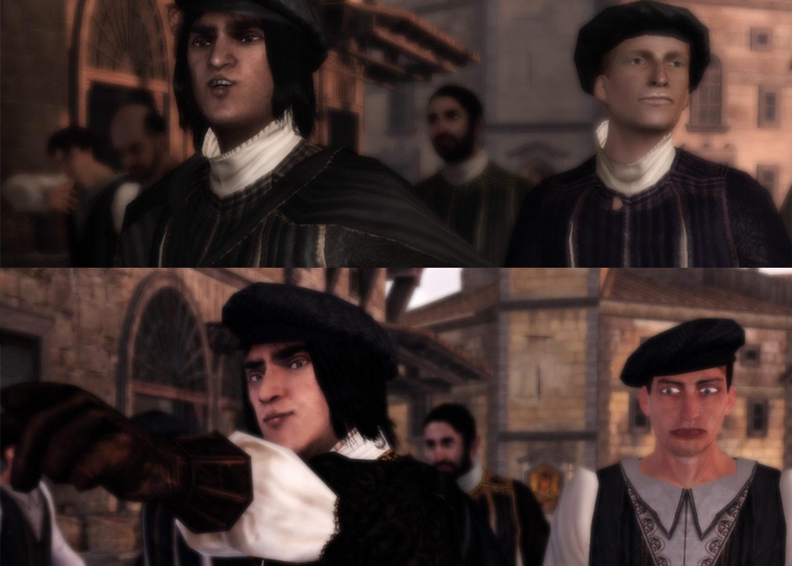 Comparaison d'une même scène sur Xbox 360 (en haut) et Xbox One (en bas).