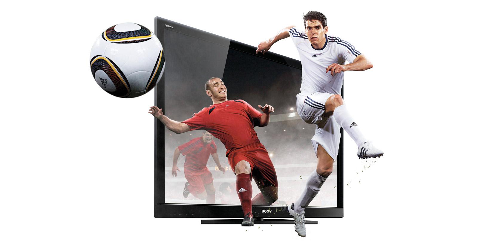 Image promotionnelle de Sony vantant les mérites de ses téléviseurs 3D BRAVIA.