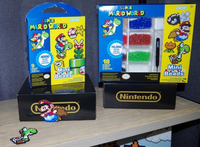 Ensembles Perler à l'effigie de Super Mario World (Photo : Geek).