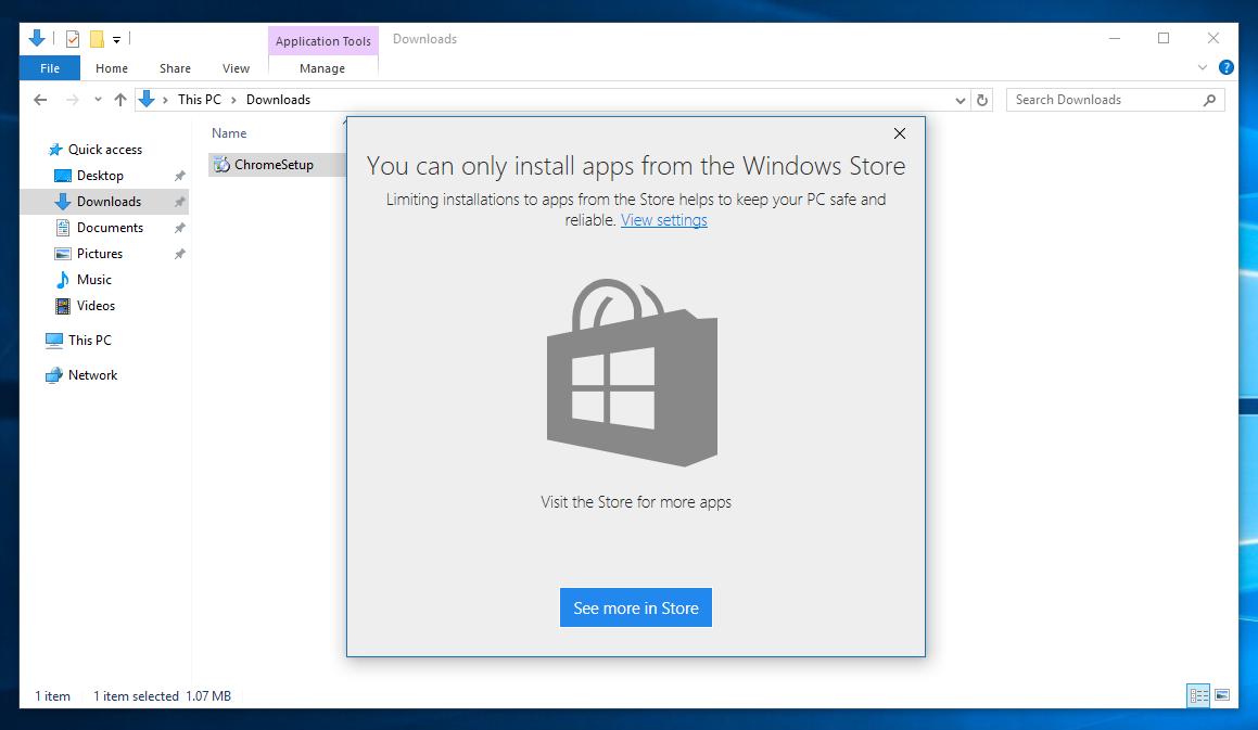 Un aperçu de l'alerte qu'affichera la prochaine mise à jour de Windows10.