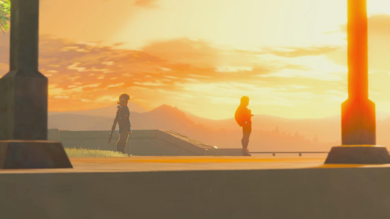 L'une des cinématiques que propose Breath of the Wild. Étrange silhouette, n'est-ce pas?